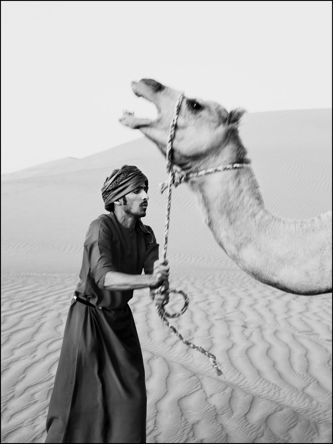 Camel leader Amir in the Wahiba Sands